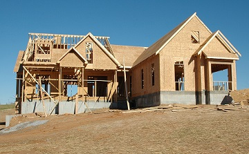 Foundations of new single family homes